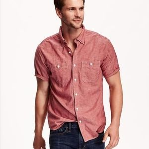 Slim-Fit Chambray Shirt For Men NWT